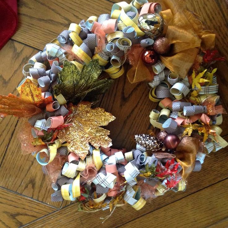 fall curly wreath