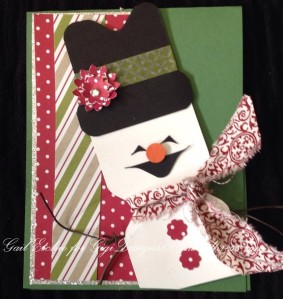 Punch Board Snow Man Card