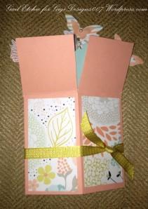 A2 Size Pop Up Box Card - Gail Etchie For Gigi Designs